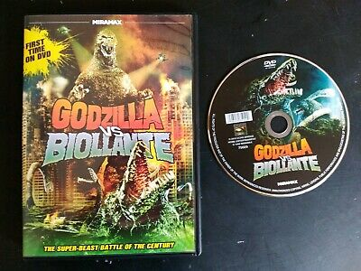 Godzilla vs Biollante DVD Miramax Region 1 Widescreen (Disc Case & Artwork) RARE