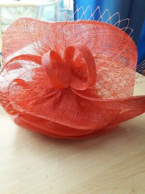 M & S Facinator on Head band bright Coral Wedding, races, Rrp £29.50