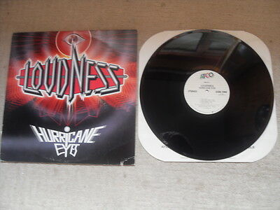 "LOUDNESS HURRICANE EYES ATCO RECORDS US 12"" VINYL ALBUM in P/S JAPANESE METAL"