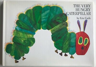 Eric Carle The Very Hungry Caterpillar SIGNED Hardcover 1987 Revised Edition
