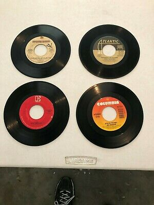 ( Lot Of 4 ) 45 Rpm Records Queen, Steve Perry, Elvin Bishop, Dusty Springfield