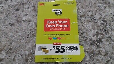 Straight Talk Wireless SIM Activation Kit w/ 30-Day Code Bring Your Own Phone