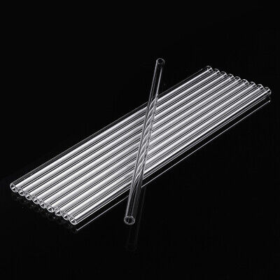 10Pcs 300mm OD 10mm 2.2mm Thick Wall Borosilicate Glass Blowing Tube Lab Tubing