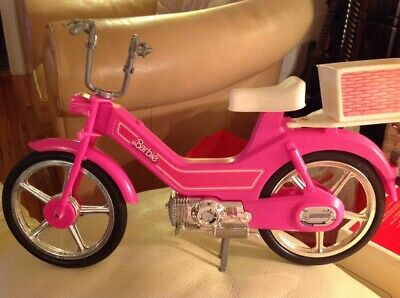 Vintage Barbie Pink Motor Bike Scooter Moped 1983