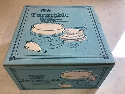 Vintage Mary Ford Cake Decorating Turntable Baking