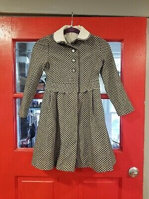 Vintage Girls Long Dress Coat