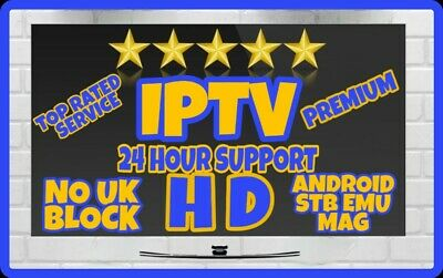 6 Month IPTV Premium Subscription, Smart TV, Firestick, Android, 24hr support