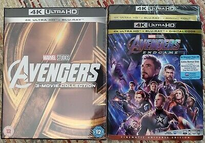☆New☆ Marvel Avengers Quadrilogy 4K Uhd + Bluray 1-4 Collection Endgame Infinity