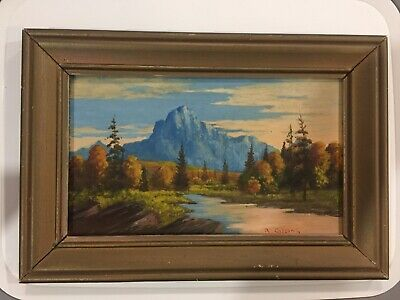 signed Canadian Listed Artist Roland Gissing bow valley river (1895 - 1967)