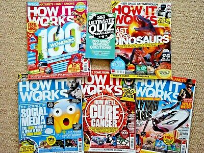 5 'How It Works' Magazines.  Editions 100-104 (March 2016 -  August 2016).