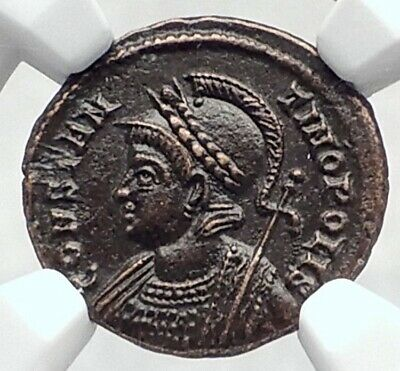 CONSTANTINE I the GREAT Founds Constantinople Ancient Roman Coin NGC i80336