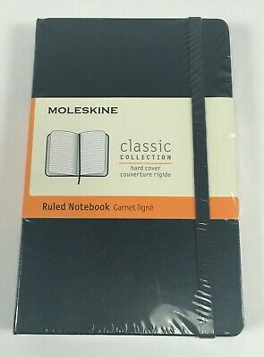 "Moleskine Classic Sapphire Blue Pocket Ruled Notebook Hard Cover 3.5"" x 5.5"""