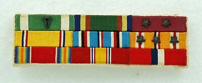 USN Custom / Theater? Made 9 Place Ribbon Bar WW2 Combat Service