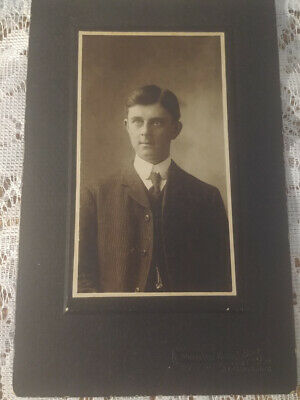 Antique Cabinet Photo Webster & Co St Mary's Ontario Man in Suit #2