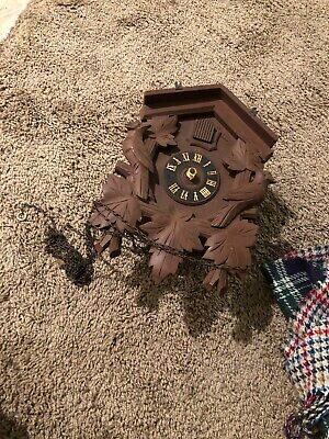 Heco Black Forest Cuckoo Clock For Parts Or Repair Regula