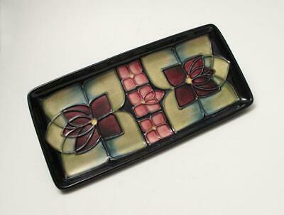 William Moorcroft Pottery Rectangular Dish Tray Tube Lined Arts & Crafts Design