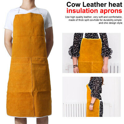 Cow Leather Aprons Protective Gear Apron Welding Heat Insulation Protection