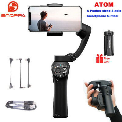 Snoppa Atom Foldable 3 axis Smartphone Handheld Gimbal Stabilizer for GoPro+Gift