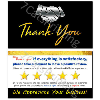 100-500 Thank you for your purchase  color star business cards customizable