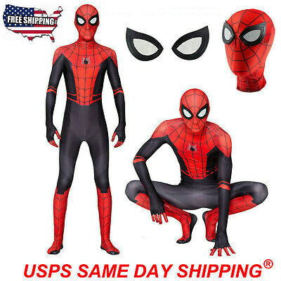 Adult & Kids Spider-Man Far From Home Halloween Spiderman Zentai Cosplay Costume