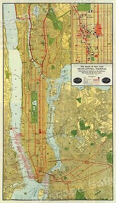 Nyc Subway Map 1989.Vintage Nyc Mta Manhattan Bus Map 1989 And 1993 Crosstown Bus
