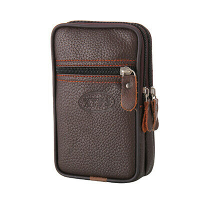 Mens Leather Wallet ID Credit Card Holder Clutch Bifold Pocket Zipper Coin Purse