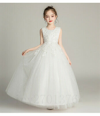 Flower Girls Wedding Pageant Birthday Bridesmaid Performance Gown long Dress Kid