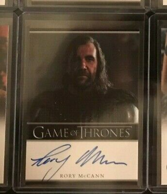 Rory McCann Game of Thrones Season 1 Autograph Card Sandor Clegane The Hound
