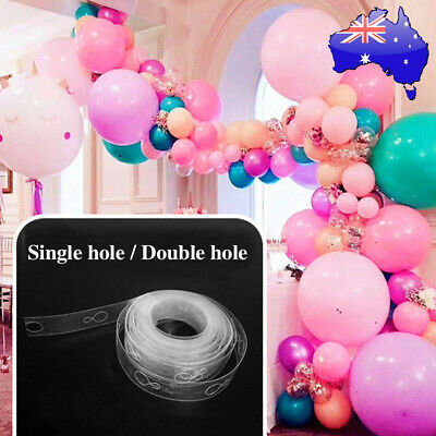 1/2pcs 5M Balloon Decorate Strip Arch Garland Connect Chain DIY Tape Party Decor