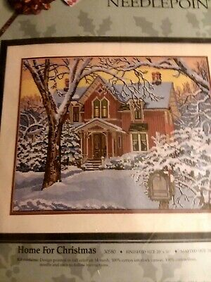 Something Special~Home For Christmas~Needlepoint Kit~Winter House~Victorian~New