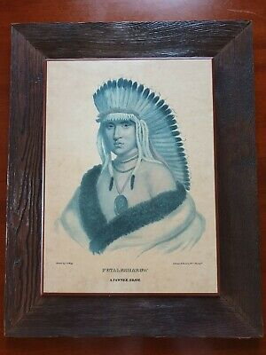 Native American Indian Prints Rare, set of 4, McKenney & Hall