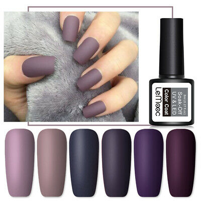 LEMOOC 8ml Matte Nail UV Gel Polish Top Coat Gel Soak Off UV LED Gel Nail Polish
