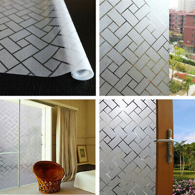3D Grid Frosted Glass Stickers Window Film Privacy Stickers Decor 45//60//90X200CM
