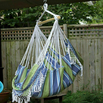 Gardeon 2 Person Hammock Chair W Stand Cotton Rope Outdoor Camping
