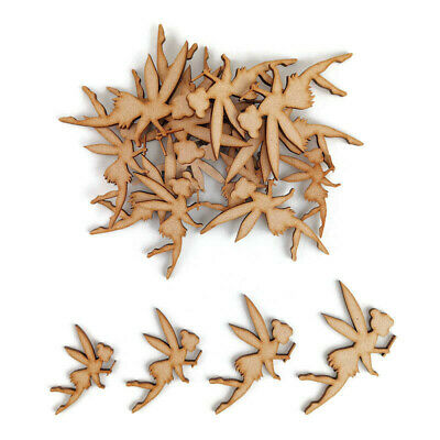 Fairy MDF Craft Shapes Wooden Blank Gift Tags Decoration Embellishment fantasy