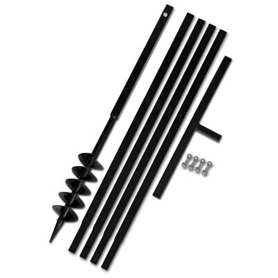 vidaXL Ground Drill 100mm Steel Hand Earth Auger Hole Digger 4 Extension Tube