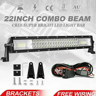 """22inch Combo LED Light Bar Spot Flood Driving Offroad 4WD 22/23"""" + Wiring Kit"""