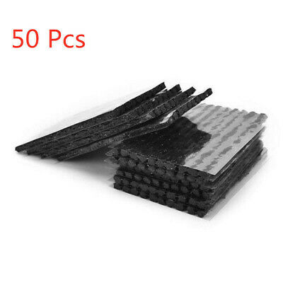 50Pcs Tubeless Tire Tyre Puncture Repair Strip Kit Plug Car Bike Motorcycle
