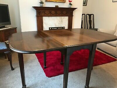 Victorian Antique Dining Table with 4 Queen Anne Chairs