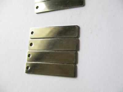 Small Blank Metal Tag identifiers rnd20cm, rect40x9mm  or rect25x15mm
