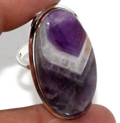 E12939 Amethyst Lace 925 Sterling Silver Plated Ring Us 7