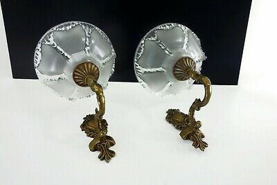 Pair Of Art Deco Icicle Wall Lamps Sconces By Ezan 1930/1940s
