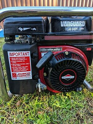 Briggs and Stratton Powered 1.8kVA 4hp Petrol Generator, very little use.