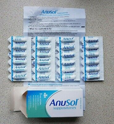 24 PACK OF ANUSOL SUPPOSITORIES For Haemorrhoids Anal Piles Relief, **SAVE**