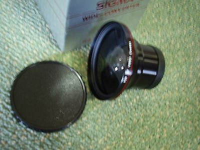 Sigma wide angle /tele converter for video camera