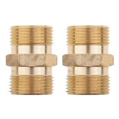 2 Pieces Male Socket Brass Quick Connect Suit for Pressure Washer Fitting - I5D5