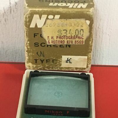 Genuine Vintage Nikon Focusing Screen Type K