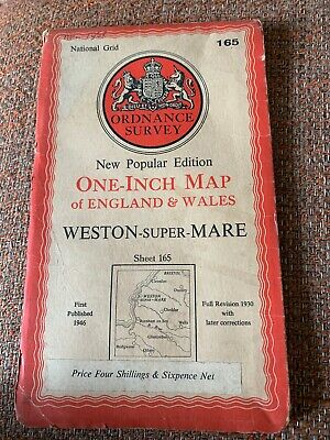 Vintage Ordnance Survey Map Weston Super Mare