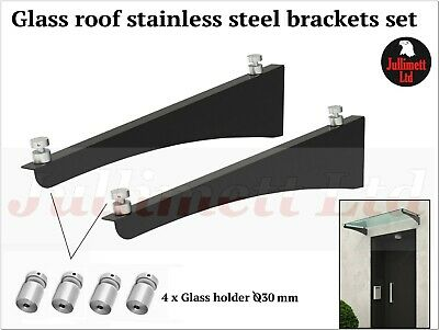 Glass Awning/Canopy Roof components, stainless steal BRACKETS set. New design!!!