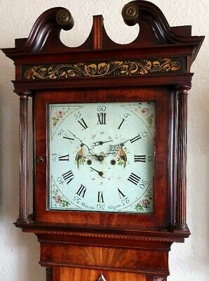 A fine quality Georgian Mahogany & Inlaid Longcase Grandfather Clock C1790